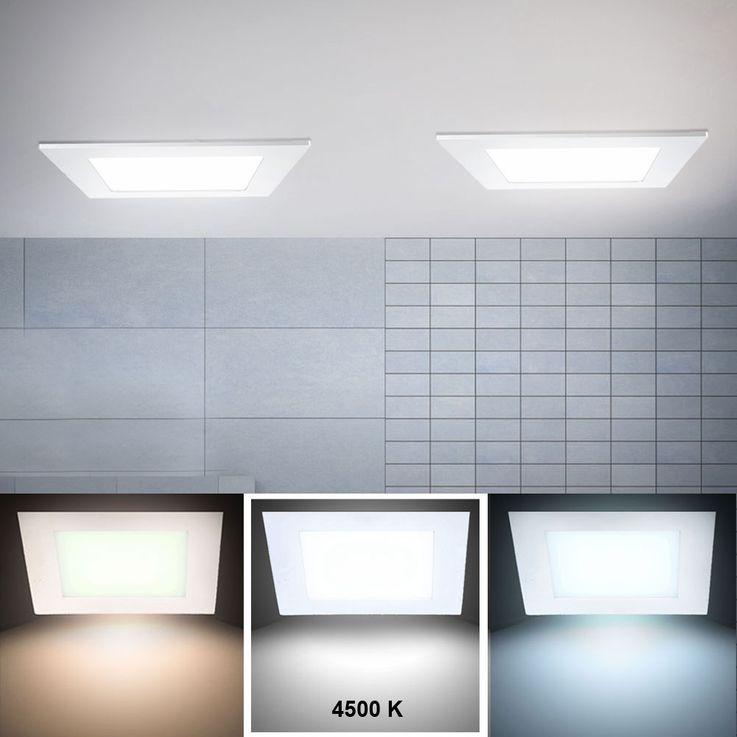Panel encastré DEL 12 watts luminaire éclairage lampe LED panneau montage installation plafond – Bild 2