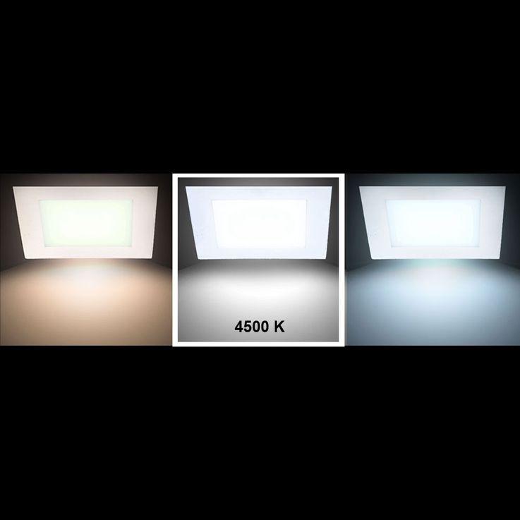 Panel encastré DEL 12 watts luminaire éclairage lampe LED panneau montage installation plafond – Bild 3