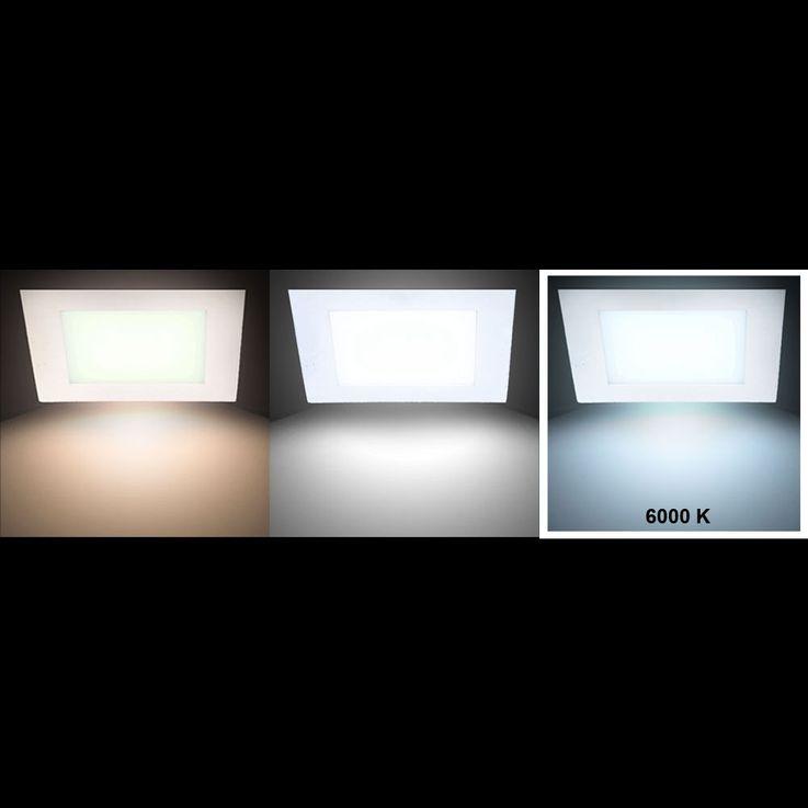 LED 22 Watt Decken Panel Leuchte Alu Wohnraum Strahler Lampe Tageslicht V-Tac 4830 – Bild 3