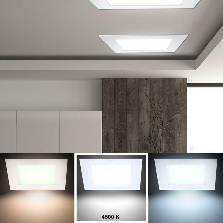 18W LED Decken Panel Einbau Büro Wohn Raum Leuchte Alu Raster Einbau Lampe neutralweiß V-Tac 4870 – Bild 2