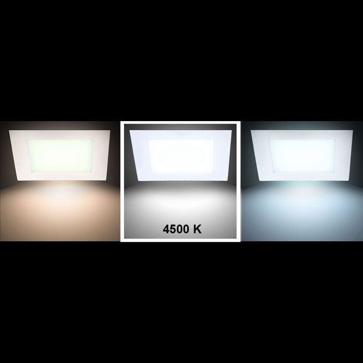 22 Watt LED Panel aus Alu in quadratischer Form VT-2200 SQ – Bild 3