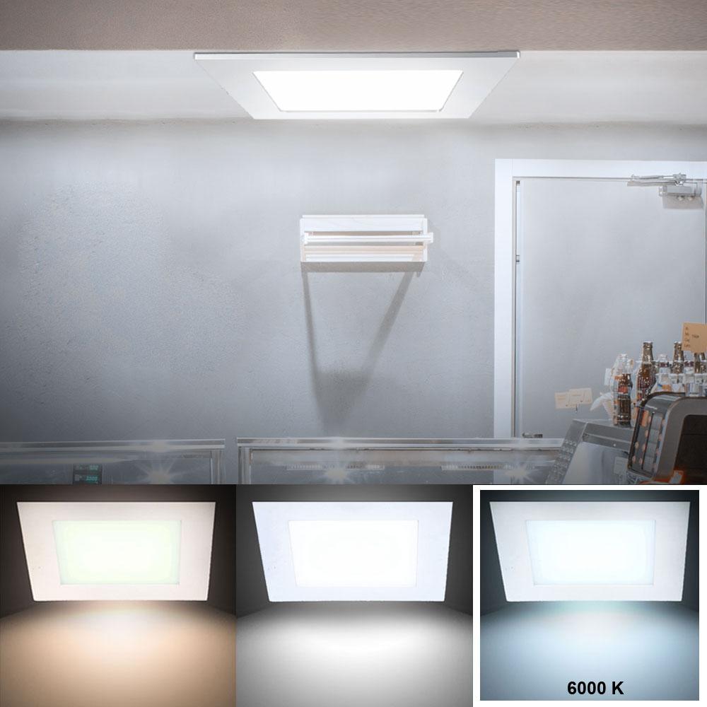 18 watt led panel aus alu in wei zur deckenmontage vt 1807 lampen m bel b ro gewerbe led panels. Black Bedroom Furniture Sets. Home Design Ideas