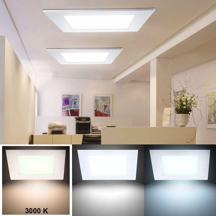 24 Watt LED Panel Decken Einbau Leuchte Wohnzimmer Raster Lampe ALU warmweiß V-Tac4887 – Bild 2