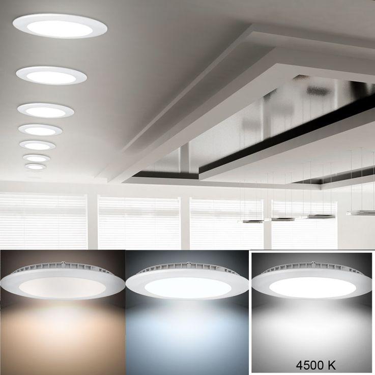 8W LED Panel aus Alu in weiß für Ihren Wohnraum VT-800 RD – Bild 2