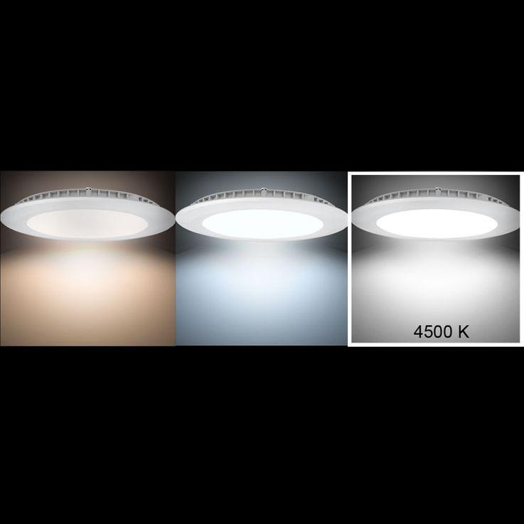 8W LED Panel aus Alu in weiß für Ihren Wohnraum VT-800 RD – Bild 3