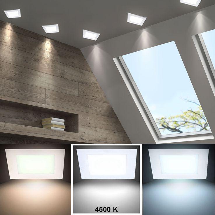 15W LED Deckenpanel in weiß für Ihren Wohnraum VT-1500 SQ – Bild 5