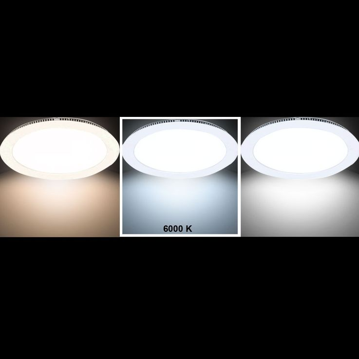 Luxury LED 22 Watt built-in ceiling panel living room grid round daylight V-Tac 4833 – Bild 3