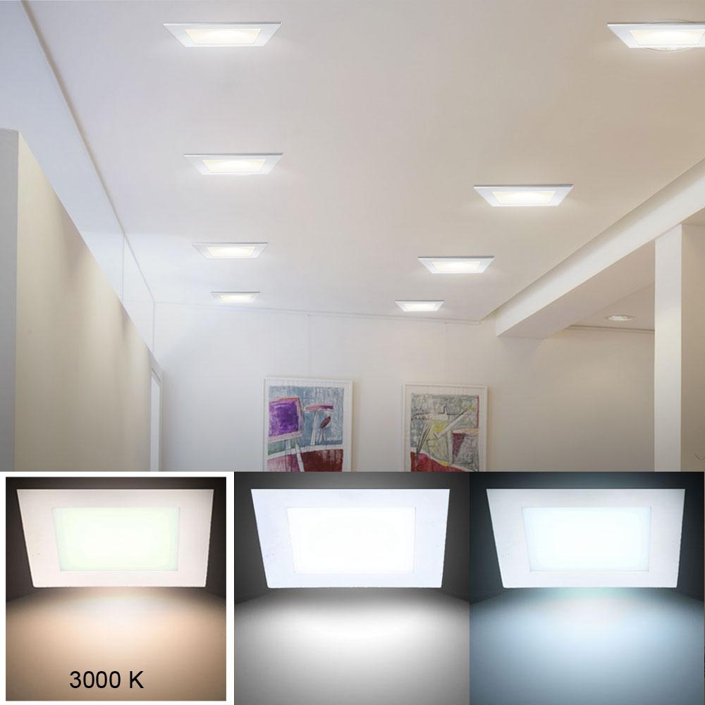 led panel decken beleuchtung flur einbau strahler wand leuchte warm wei eek a ebay. Black Bedroom Furniture Sets. Home Design Ideas