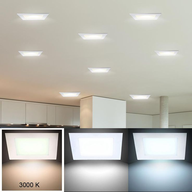 LED Panel aus ALU in weiß zur Decken- und Wandmontage VT-307 – Bild 4