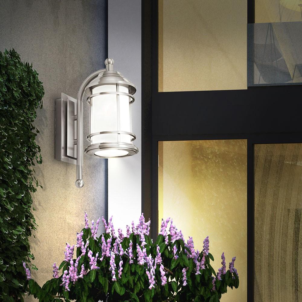 conduit ext rieur lampe murale fa ades jardin verre luminaire ip44 ebay. Black Bedroom Furniture Sets. Home Design Ideas