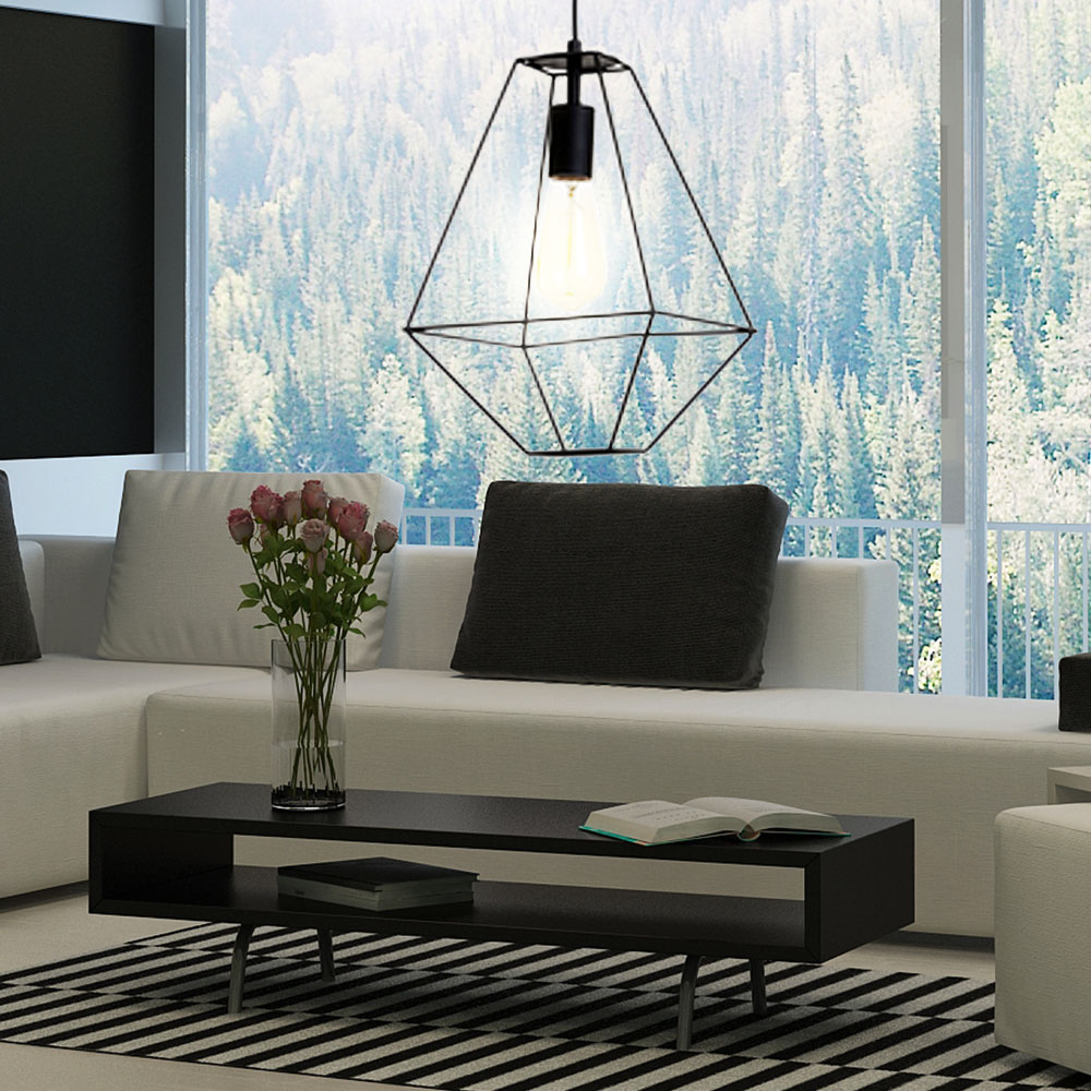 retro pendelleuchte im k fig design gaia lampen m bel r ume wohnzimmer. Black Bedroom Furniture Sets. Home Design Ideas