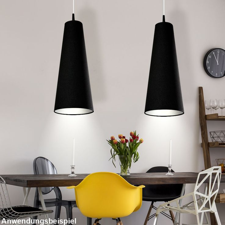 Design Hängelampe in black for your living room RAZZI – Bild 3