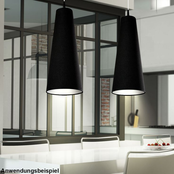 Design Hängelampe in black for your living room RAZZI – Bild 2