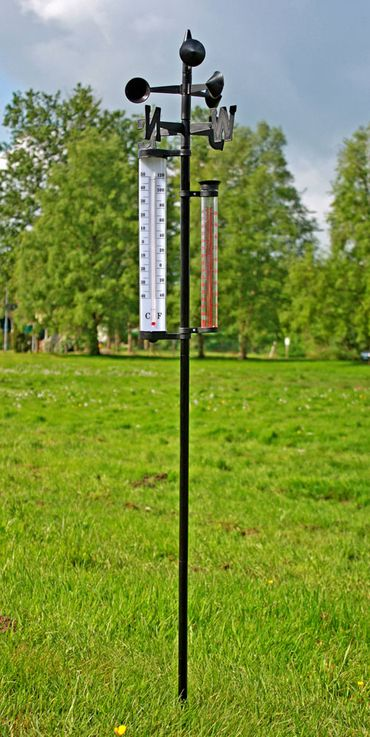 Outdoor Weather Station Thermometer Wind Meter Precipitation Measurement Wind Direction Display Harms 504405 – Bild 5