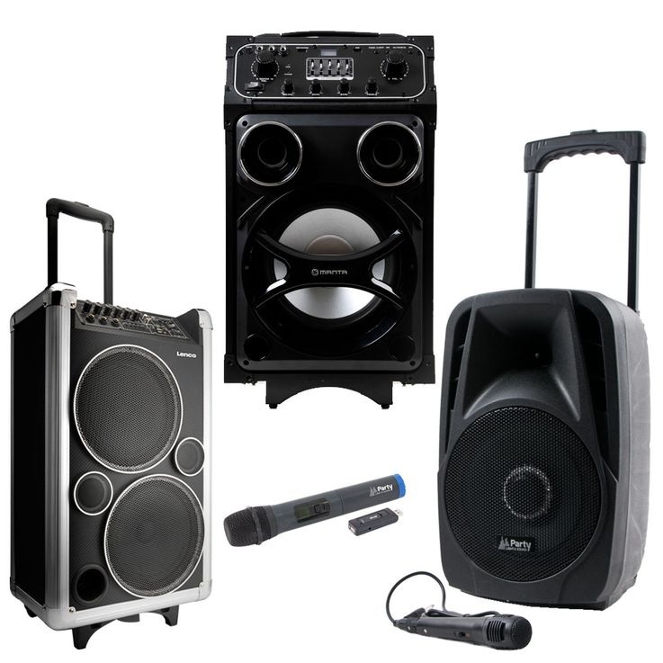 DJ PA Beschallung mobile Party Sound Systeme Bluetooth USB MP3 Funk Mikrofon Trolley – Bild 1