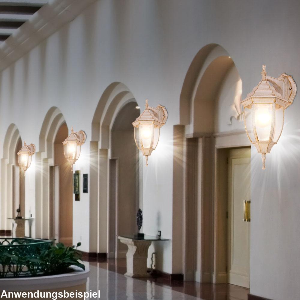 2er set wandleuchten haust rbeleuchtung balkon au enlampen. Black Bedroom Furniture Sets. Home Design Ideas
