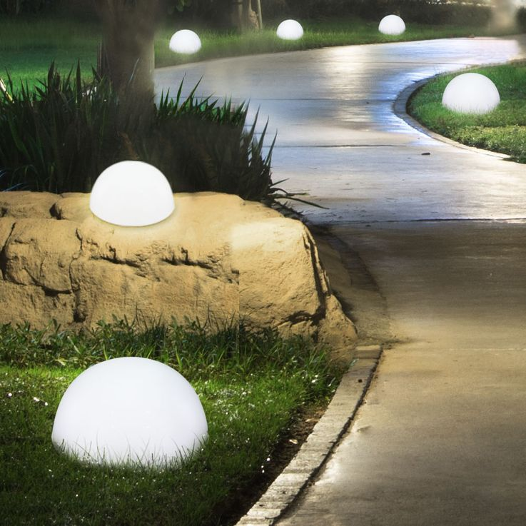 Set of 4 LED solar lights in hemispherical shape – Bild 5