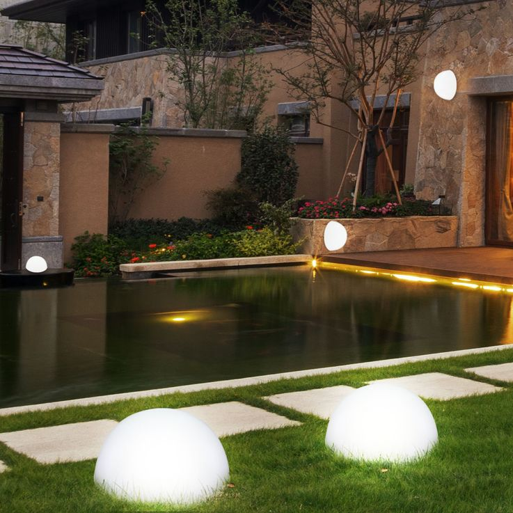 Set of 4 LED solar lights in hemispherical shape – Bild 3