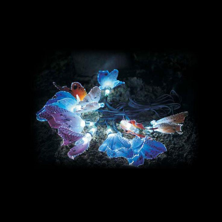 2er Set LED Solar Lichterketten mit bunten Schmetterlingen – Bild 4