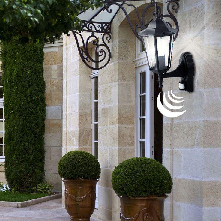 Façades de lumière de mur extérieur détecteur de mouvement d'éclairage Alu lampe de jardin lanterne noir V  TAC 7070 – Bild 2