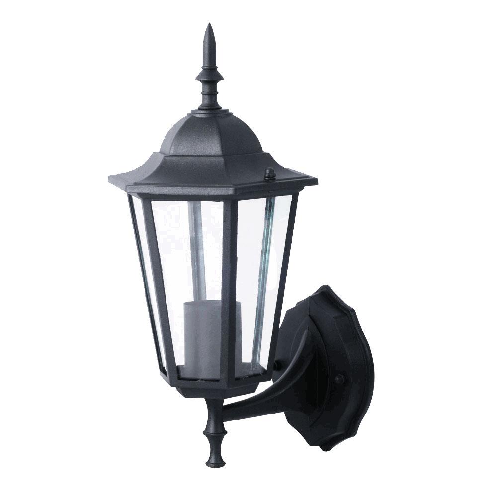 wandleuchte aus schwarzem alu f r ihren au enbereich vt 749 lampen m bel au enleuchten. Black Bedroom Furniture Sets. Home Design Ideas