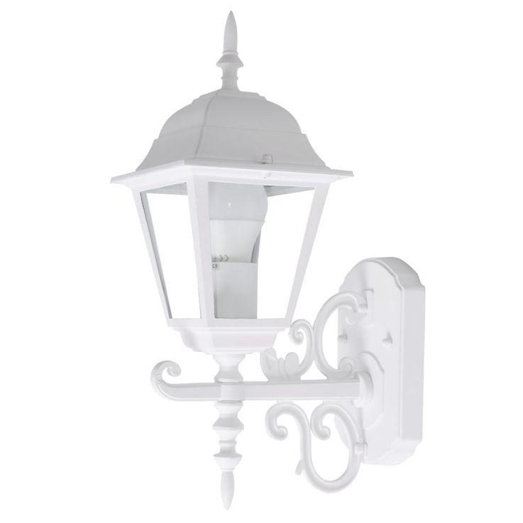 Applique luminaire mural aluminium blanc espace extérieur éclairage balcon verre aluminium blanc – Bild 1