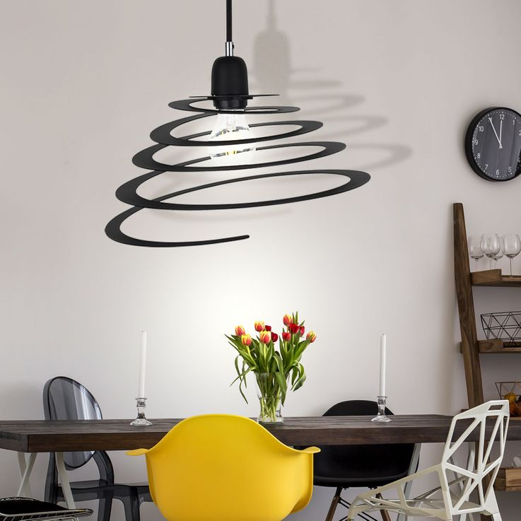 Design pendant lamp in spiral form for your living room KOMET 2566/5000 Lampe suspension design en forme de spirale de votre KOMET espace de vie – Bild 3