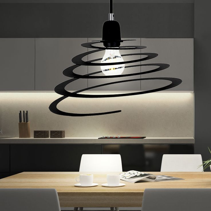 Design pendant lamp in spiral form for your living room KOMET 2566/5000 Lampe suspension design en forme de spirale de votre KOMET espace de vie – Bild 2