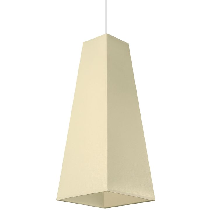 LED Pendellampe in creme for your living room PIRAMIDE – Bild 4