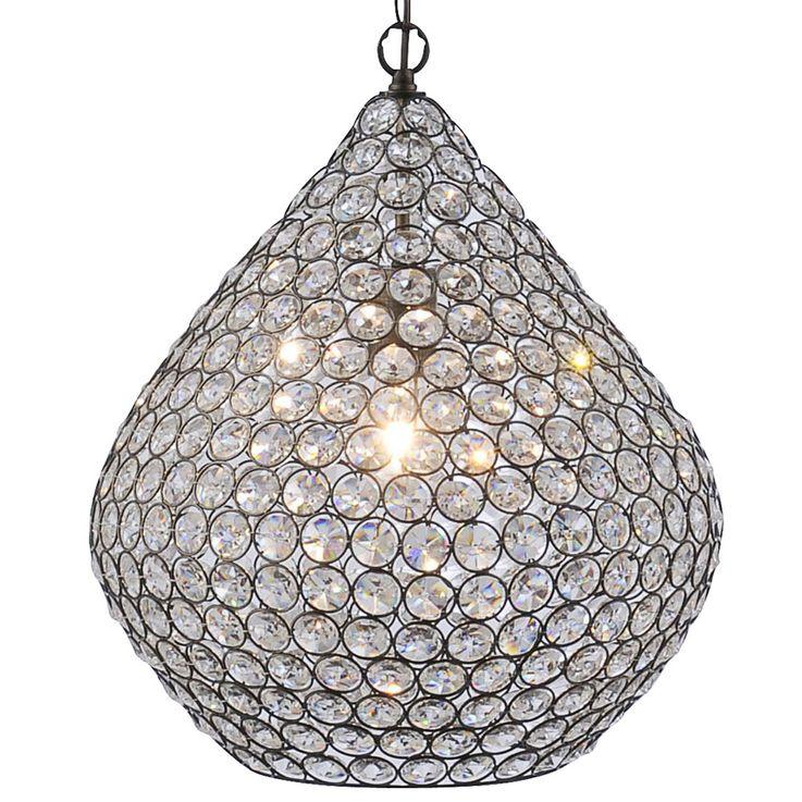 Suspension luminaire plafond lustre cristaux éclairage salle de séjour chambre acier – Bild 5