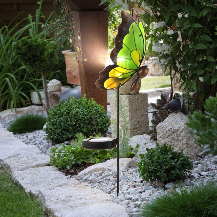 LED Solar light Outdoor lighting Butterfly lamp Spotlights Direct 19704-43 – Bild 2