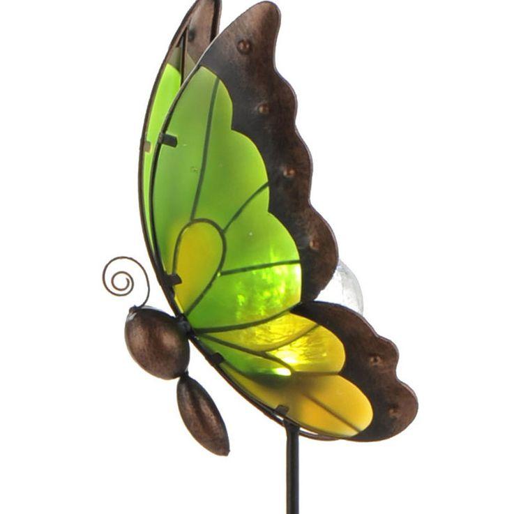Lampe solaire LED luminaire extérieur jardin terrasse éclairage DEL verre papillon – Bild 5