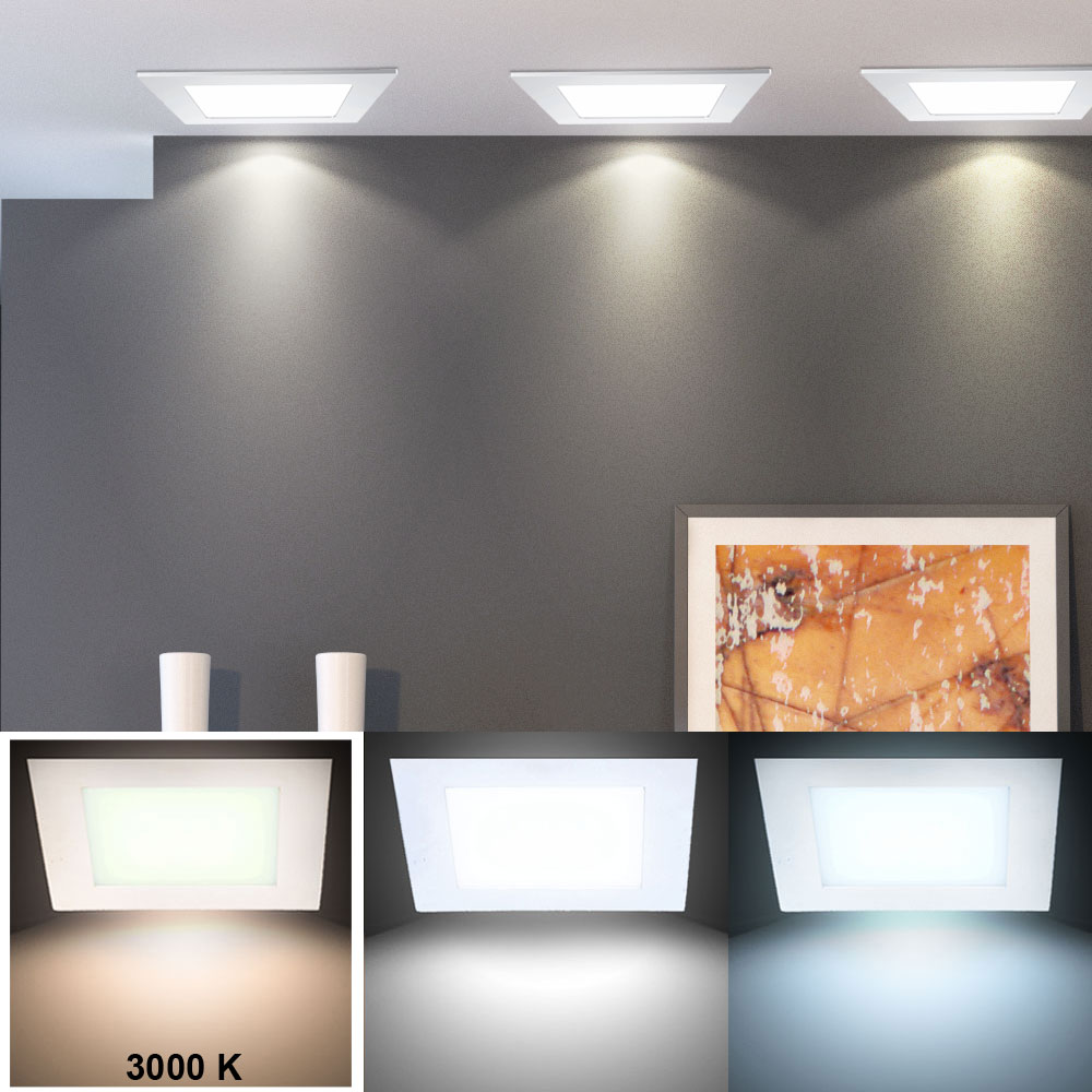 2er set luxus led plafond encastrable lumi re lames de plafond panneau spot ebay. Black Bedroom Furniture Sets. Home Design Ideas