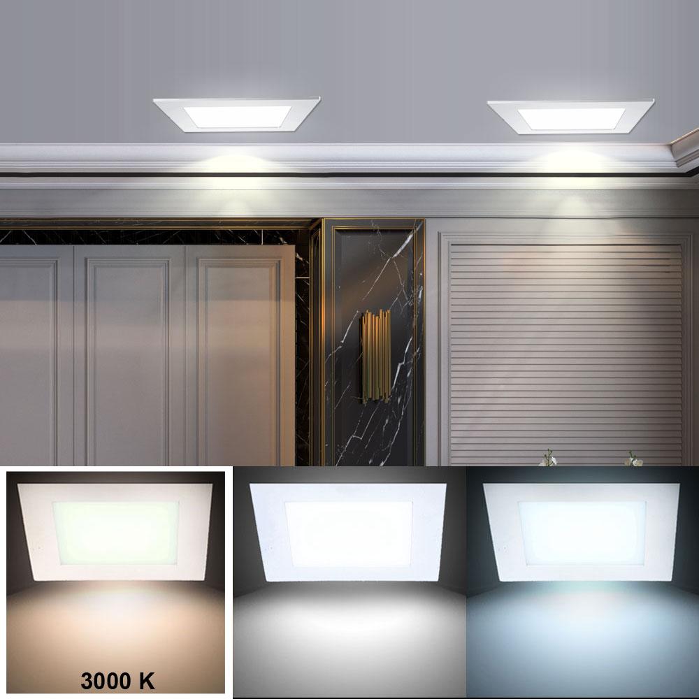 2er set luxus led decken einbau leuchte dielen panel strahler alu samsung lampe ebay. Black Bedroom Furniture Sets. Home Design Ideas