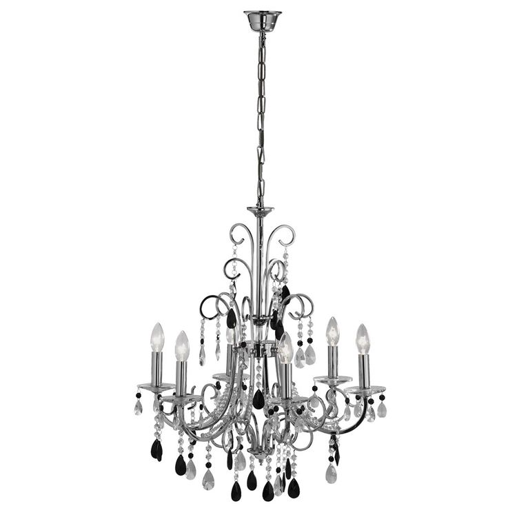 Luxury pendant lamp chandelier living room chrome crystal pendant lamp Paul Neuhaus 2104-17 – Bild 1