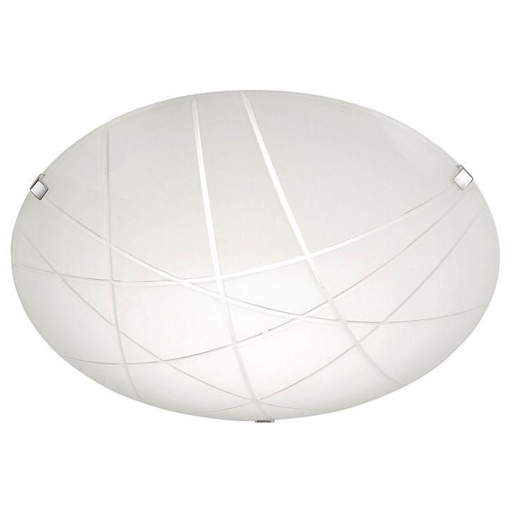 Hochwertige LED Deckenleuchte mit gemustertem Glas ANNA – Bild 1