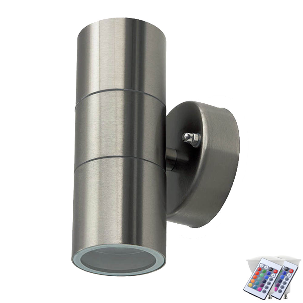 Piscine En Inox Steel And Style rgb led wall lamp made of stainless steel for your outdoor area vt-7622