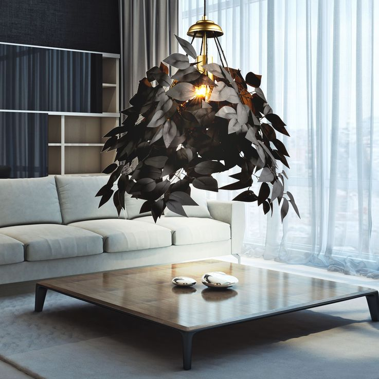 Pendulum lamp in leaf design for your living space – Bild 8