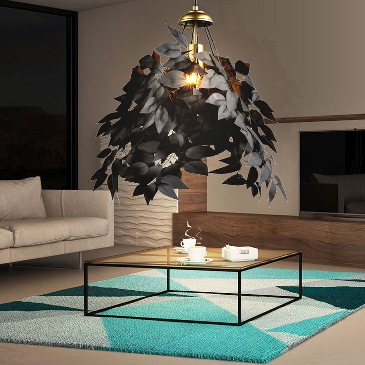 Pendulum lamp in leaf design for your living space – Bild 9