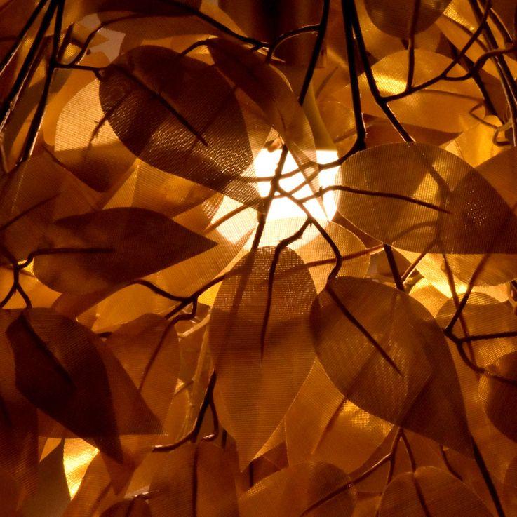 Pendel Lampe Blätter Äste Design gold-färbig Wohn Ess Zimmer Decken Hänge Beleuchtung Globo 15059G – Bild 3