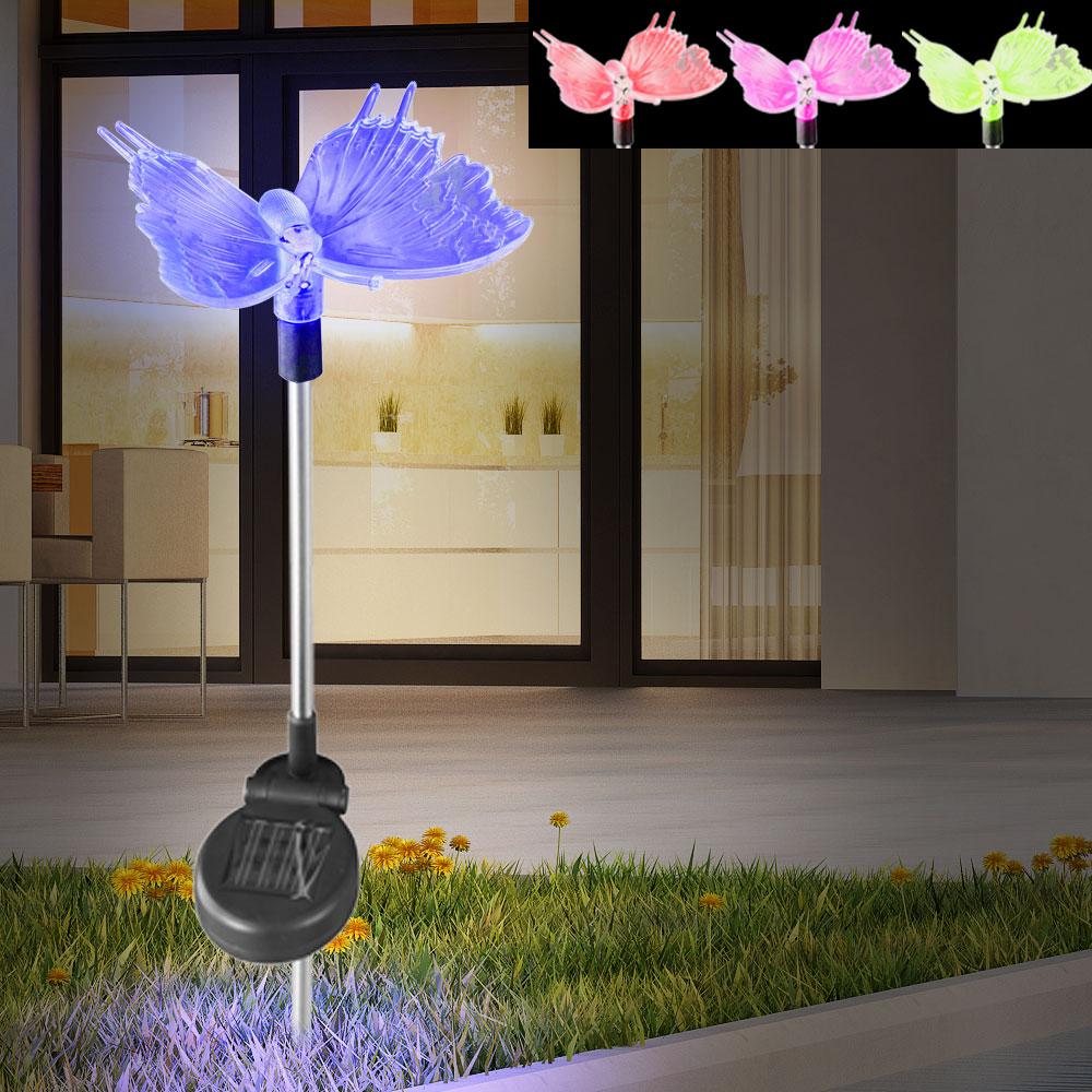 3er set led solarleuchten f r den garten unsichtbar lampen. Black Bedroom Furniture Sets. Home Design Ideas