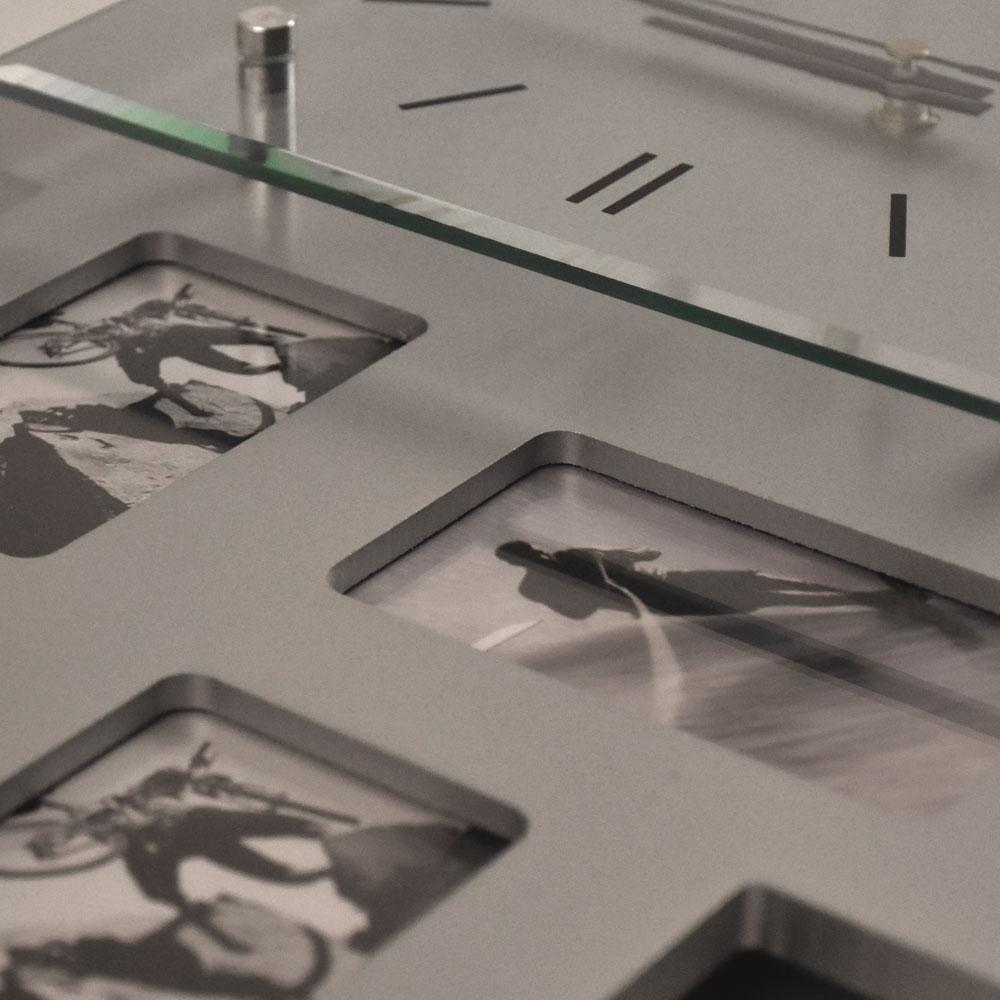 Wand uhr bilder rahmen wohn zimmer foto dekoration silber for Foto dekoration wand