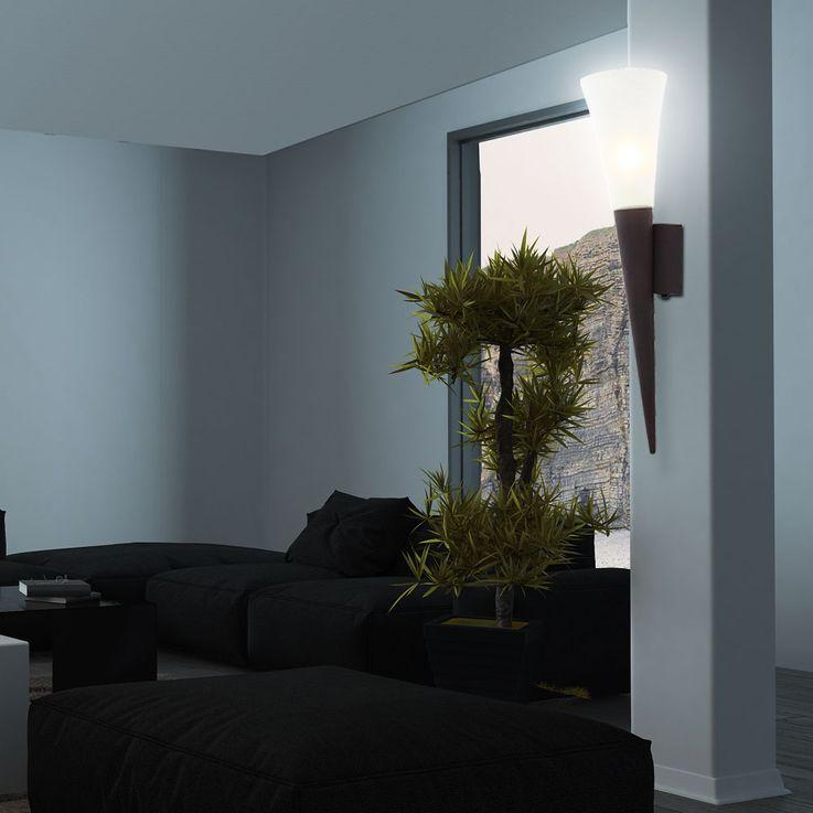 Applique LED rétro luminaire mural métal rusé verre albâtre éclairage couloir chambre lampe DEL – Bild 4