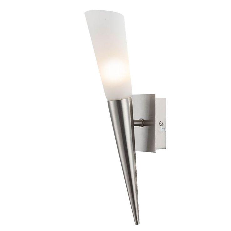 Vintage LED Wand Fackel Gästezimmer Glas Strahler Schalter Leuchte EEK A++ Nino Leuchten 23520101 – Bild 1