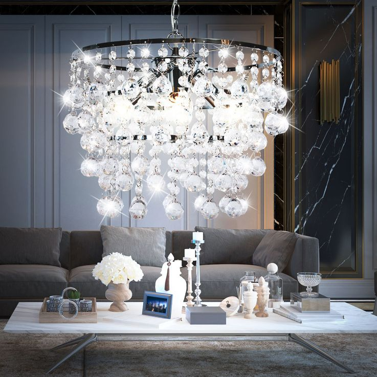 Luxus Hänge Leuchte Kristalle klar Pendel Beleuchtung Kronleuchter Luster Nino Leuchten 33440306 – Bild 3