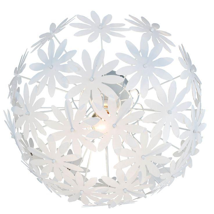 Plafond de fleurs de fleurs Lampe E27 Lampe ronde salon éclairage blanc Nino Leuchten 60410107 – Bild 1