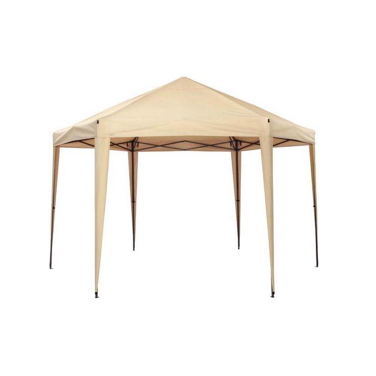 Pavillon sand TEPRO ARUBA 350x400x290 cm Garten Camping Terrasse 5503 – Bild 1