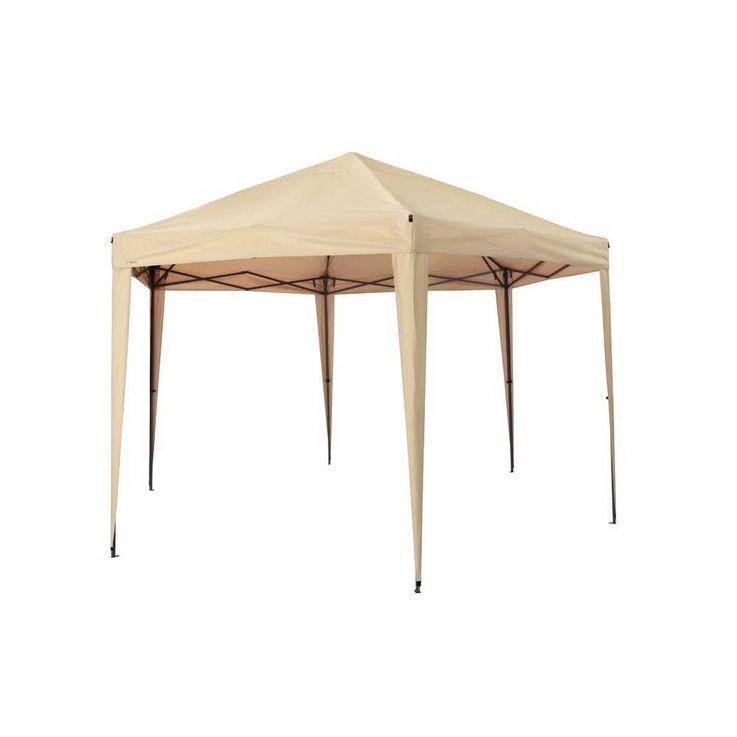 Pavillon sand TEPRO ARUBA 350x400x290 cm Garten Camping Terrasse 5503 – Bild 3