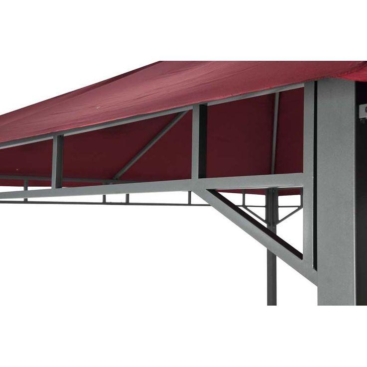 Pavillon burgund TEPRO LEHUA 330x330x285 cm Garten Camping Terrasse 5507 – Bild 11
