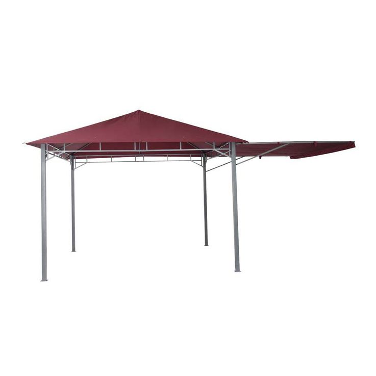 Pavillon burgund TEPRO LEHUA 330x330x285 cm Garten Camping Terrasse 5507 – Bild 3